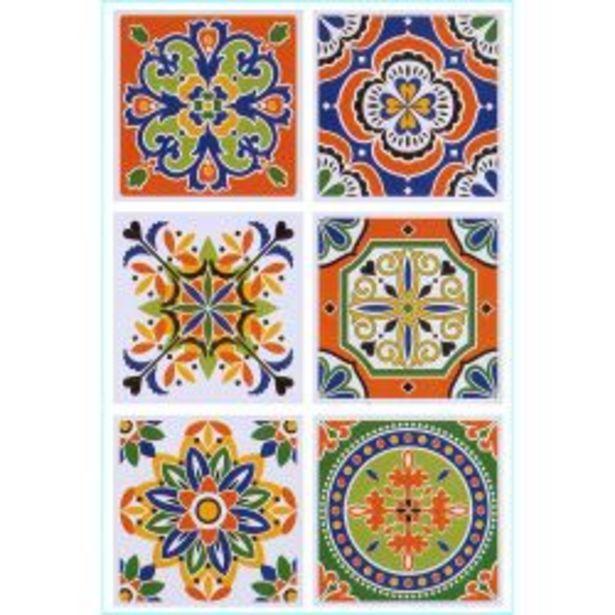 Oferta de Set de Azulejos Autoadhesivos Muresco 16211 15 cm por $1395