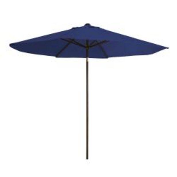 Oferta de Sombrilla Garden Life de 2,20m diámetro de poliéster azul por $6749