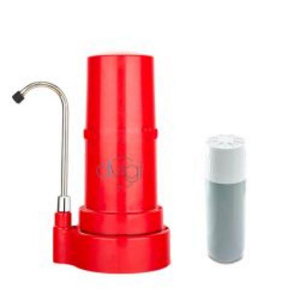 Oferta de Purificador de Agua Sobre Mesada Dvigi Rojo + 1 Repuesto por $14959