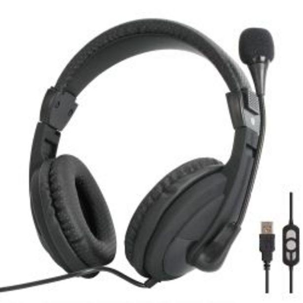 Oferta de Auriculares con Microfono Vcom De160u Negro por $6257