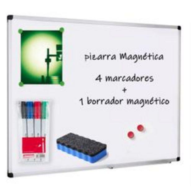Oferta de Pizarra 80x120 Cm Para Marcadores Magnetica Con Marcadores Y Borrador por $2772
