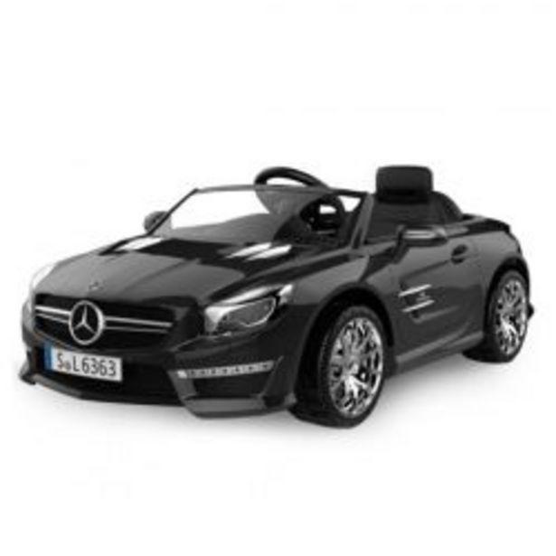Oferta de Auto a Bateria Mercedes Benz 12V con Asiento de Cuero 3023 Color Negro por $51699
