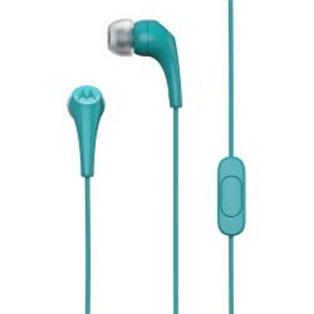 Oferta de Auriculares In Ear Motorola Ear Buds Turquesas por $949