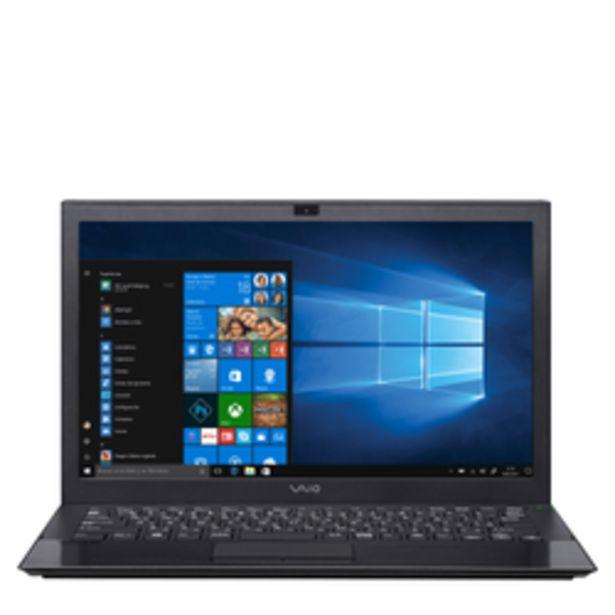 "Oferta de Notebook Vaio 13"" Core i5-6200U 4GB RAM 128GB SSD Pro 13G por $103999"