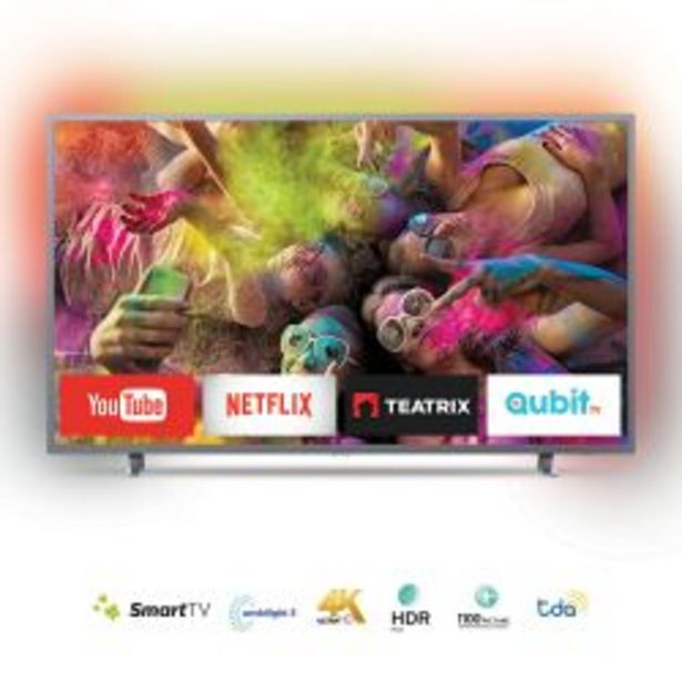 "Oferta de Smart TV 4K 55"" Philips 55PUG6703/77 por $64999"