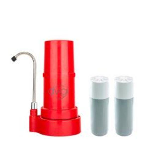 Oferta de Purificador de Agua Sobre Mesada Dvigi Rojo + 2 Repuestos por $16239