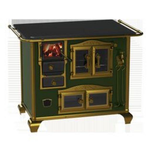 Oferta de Cocina a Leña Bram Metal Imperador Vitreo Verde por $137651