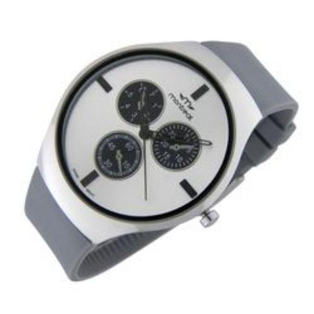 Oferta de Reloj de caballero Montreal Elegante Correo Gris y Blanco por $5389