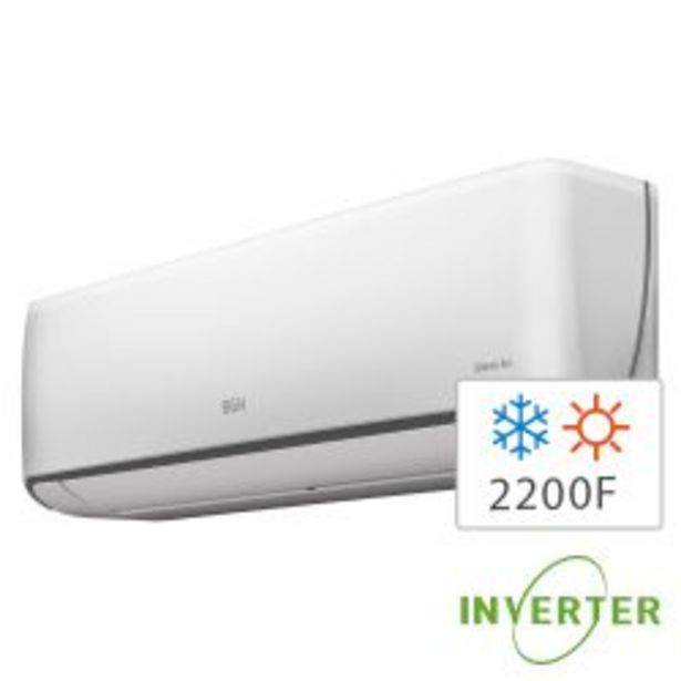 Oferta de Aire Acondicionado Split Inverter Frío/Calor BGH Silent Air 2600W BSI26WCCR por $71999