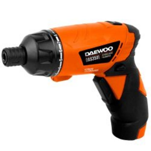 Oferta de Destornillador Inalámbrico Daewoo DAS35XL por $4499