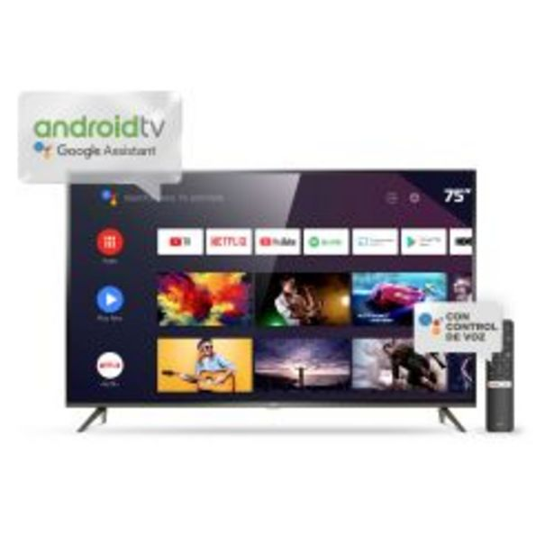 """Oferta de Smart TV 75"""" 4K UHD TCL L75P8M por $184999"""