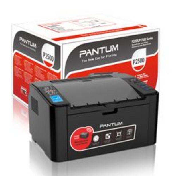 Oferta de Impresora Laser Pantum P2500W por $11250