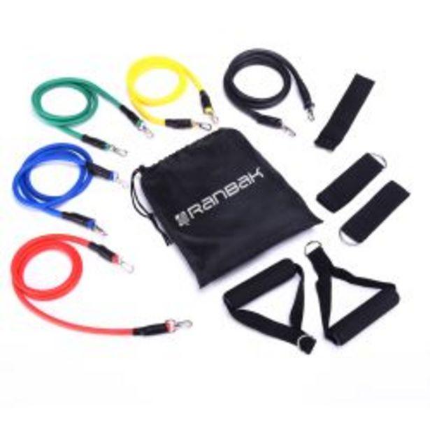 Oferta de Kit 5 Bandas De Entrenamiento Ranbak 733 Fitness Latex por $3690