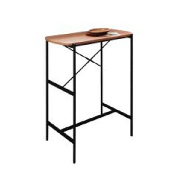 Oferta de Mesa De Arrime Lateral Bar Industrial Acacia Moderna por $8290
