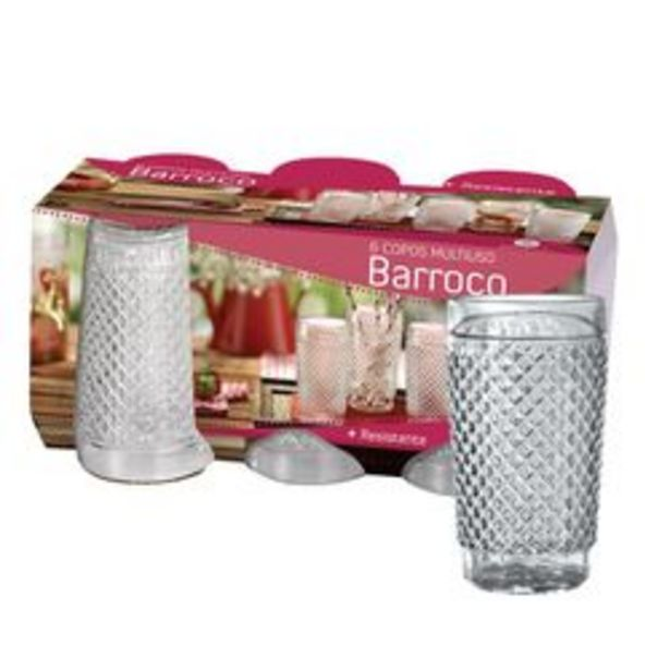 Oferta de Set de 6 Vasos de Agua Wheaton Barroco por $809