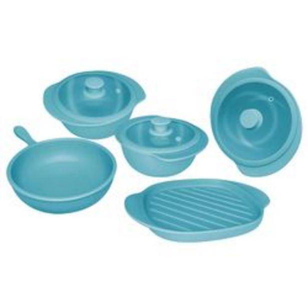 Oferta de Bateria de Cocina 5 Piezas Oxford Ceramica Turquesa 1128001 por $37029
