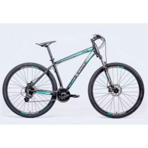 """Oferta de Bicicleta Mountain Bike Rodado 29"""" Motomel MAXAM 390 Negro y Turquesa Talle M por $69999"""