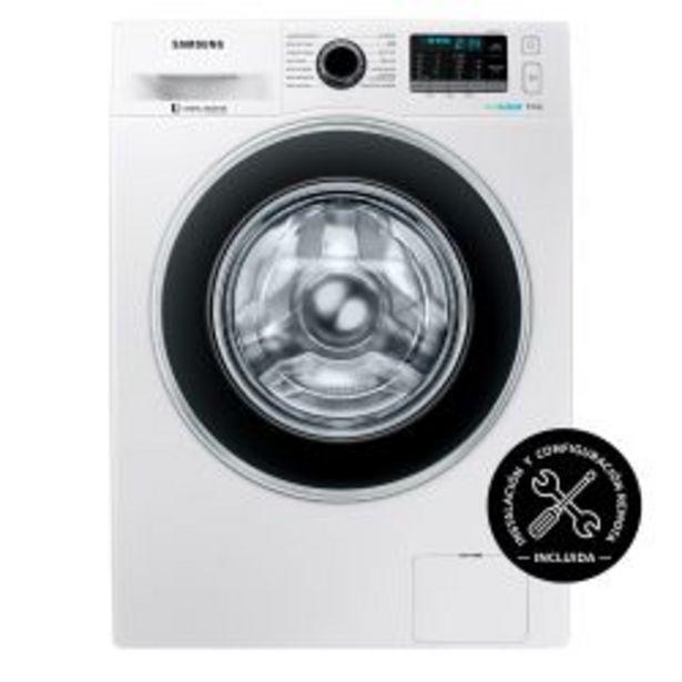 Oferta de Lavarropas Carga Frontal Inverter Samsung 9 Kg 1400 RPM WW90J5410GW Blanco por $65999