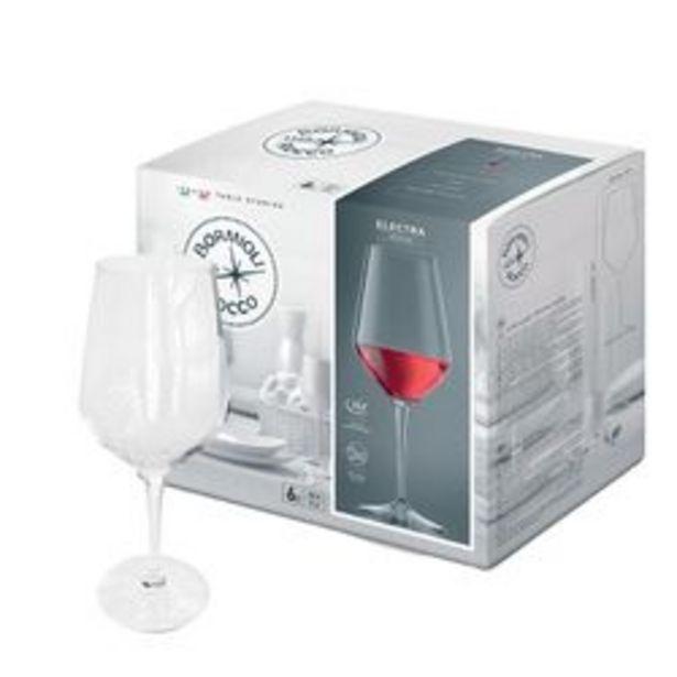 Oferta de Set de 6 Copas de Vino Bormioli Rocco Vidrio 440 cc Electra 1001715 por $3069
