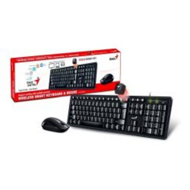 Oferta de Teclado Con Mouse Genius KM8200 Negro por $2576
