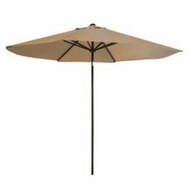 Oferta de Sombrilla Garden Life de 2,20 m de diámetro de poliéster marrón por $7839