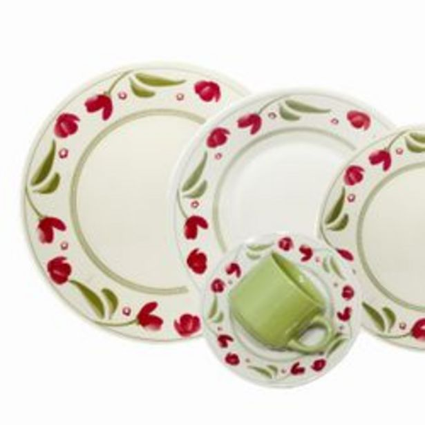 Oferta de Juego de Vajilla 30 Piezas Biona by Oxford Ceramica Roseli Dec 1269 1124248 por $9299