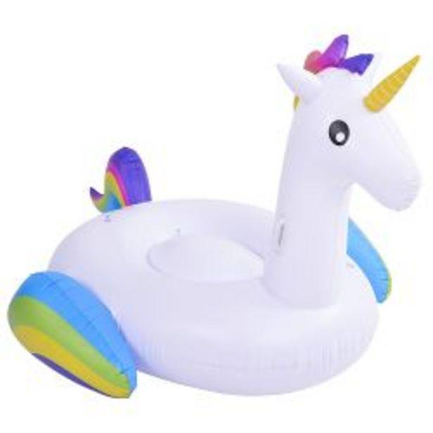 Oferta de Colchoneta Inflable Jilong Unicornio Blanco por $5399