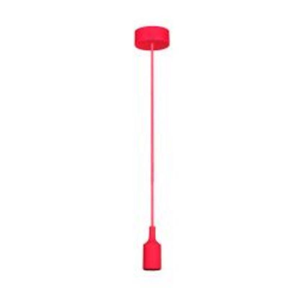 Oferta de Lampara colgante de techo moderna Faroluz 11001 roja por $715