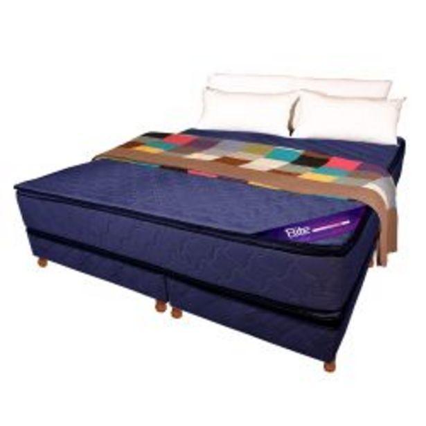 Oferta de Conjunto MAGNO ESPUMA ALTA DENS -30 KG- Pillow top 200 X 200 azul por $101459