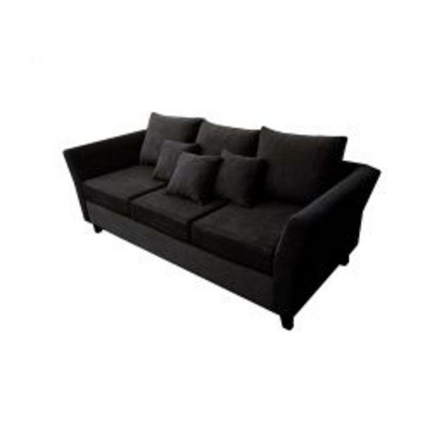 Oferta de Sillón 3 Cuerpos Miami Chenille Color Negro por $49999