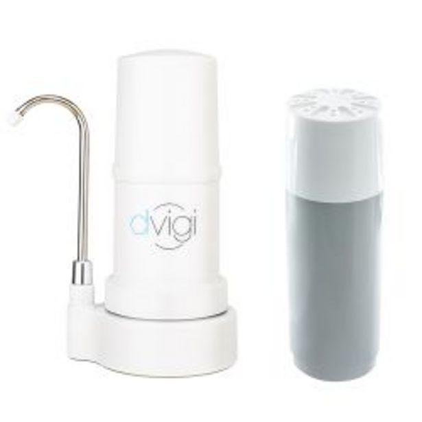 Oferta de Purificador de Agua Sobre Mesada Dvigi Blanco + 1 Repuesto por $14959