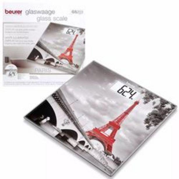 Oferta de Balanza Personal Digital de Vidrio Beurer Gs 203 Diseño París por $5090
