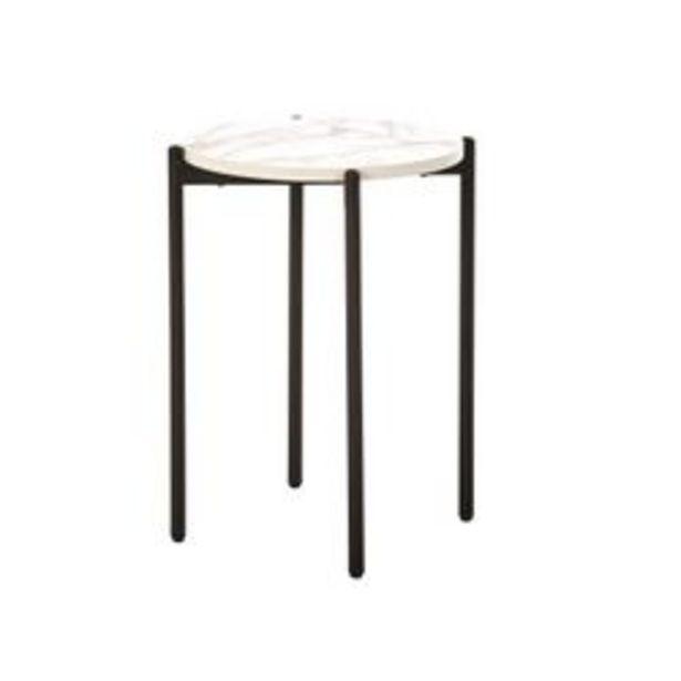 Oferta de Mesa De Arrime Lateral Pedestal Industrial Marmol Moderno por $7190