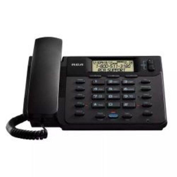 Oferta de Telefono Fijo RCA 25201 2 lineas Negro por $6499
