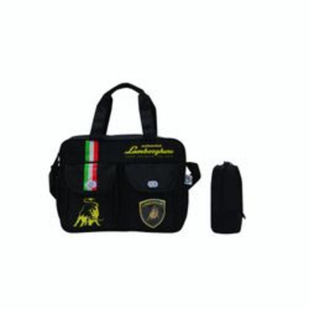 Oferta de Bolso Maternal Lamborghini Negro por $2740