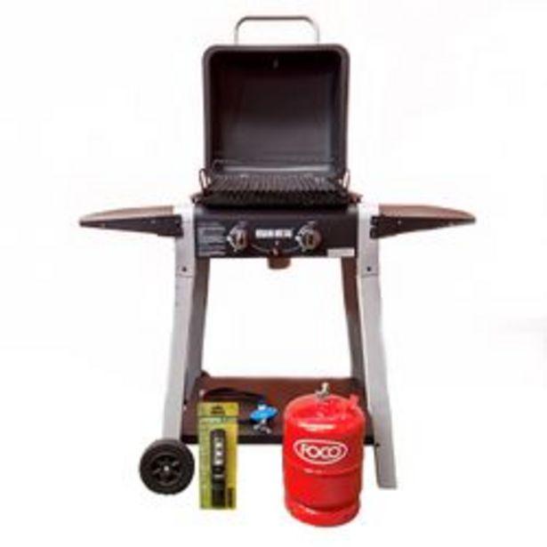 Oferta de Parrilla a Gas Bram Metal 236119 Master Grill con Encendido y Garrafa por $33169