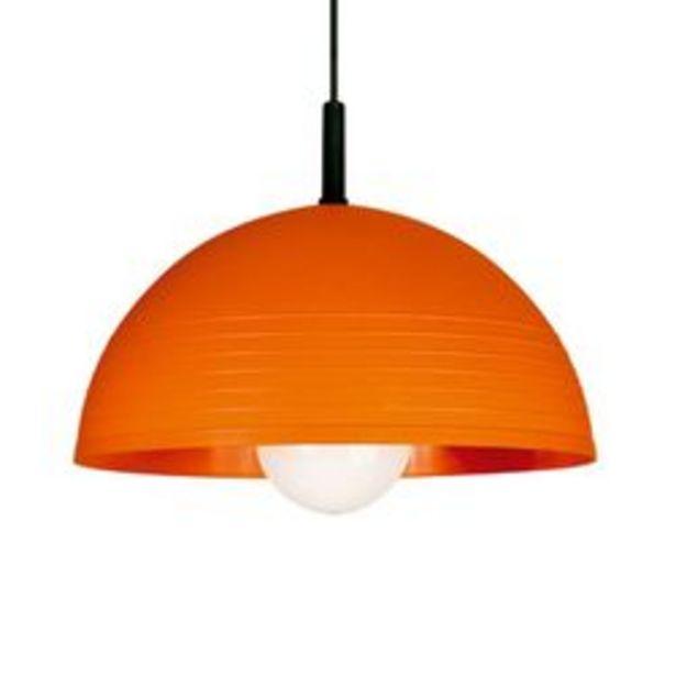 Oferta de Colgante Campana 350 mm con rayas decorativas Naranja Faroluz 0326.R Naranja por $1199