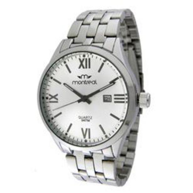 Oferta de Reloj Montreal Caballero Calendario Silver por $3333,4