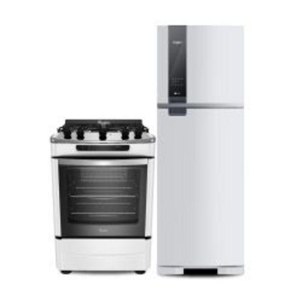 Oferta de Combo Whirlpool Heladera No Frost WRM45AB 400 Lt + Cocina 60 cm WF160XB por $146508