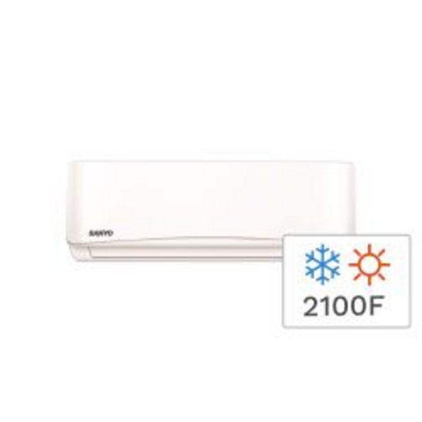 Oferta de Aire Acondicionado Split Frio/Calor Sanyo KCS25HA3AN 2100F 2500W por $40999