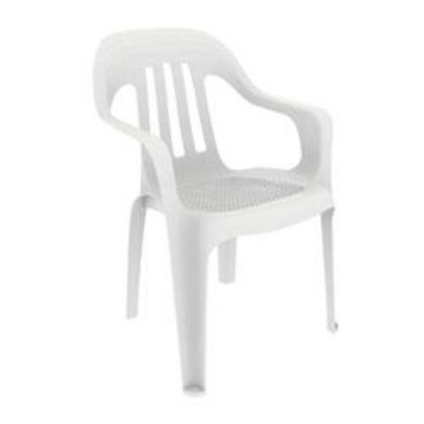Oferta de Combo de Sillas de Plástico Pasadena x 6 Color Blanco por $11999