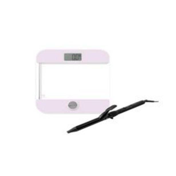 Oferta de Balanza Digital Rosa mas Buclera Negra por $7260