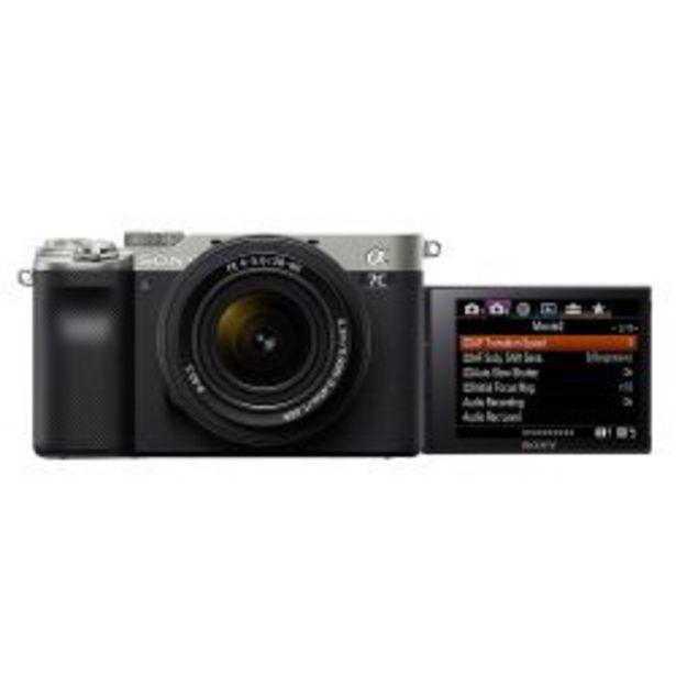Oferta de Camara compacta full frame Sony Alpha 7C ILCE 7CL color plateado por $214999