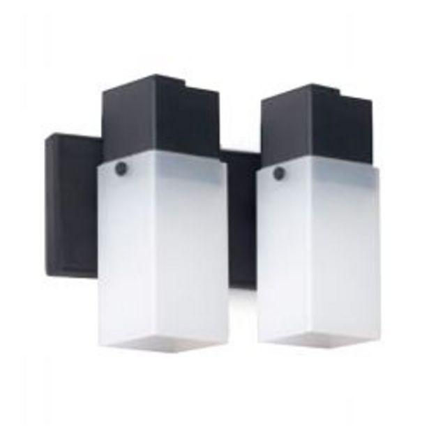 Oferta de Aplique de pared interior spot 2 luces lampara cuadrada Faroluz por $1765