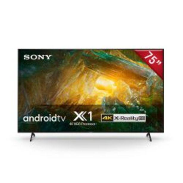 "Oferta de Smart TV 75"" Sony 4k UHD XBR 75X805H por $279999"