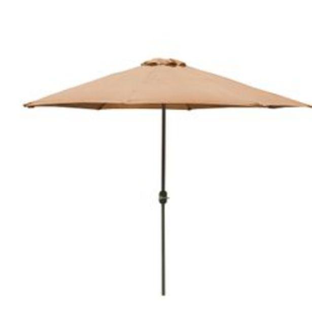 Oferta de Sombrilla Garden Life de 3m de diámetro de poliéster marrón por $8999