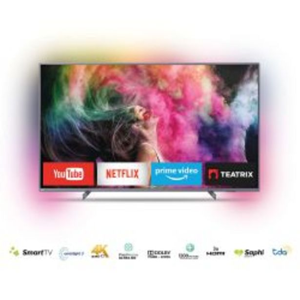 "Oferta de Smart TV 65"" UHD 4K Ambilight Philips 65PUD6794/77 por $102999"