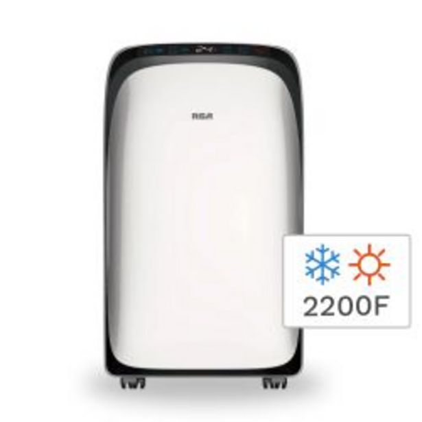 Oferta de Aire Acondicionado Portátil Frío Calor RCA AAPR9K 2200F 2600W por $37999
