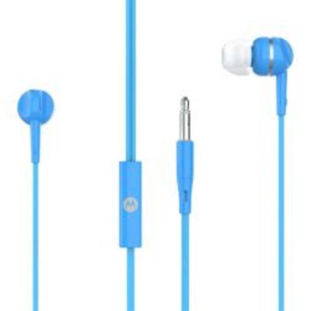 Oferta de Auriculare Motorola In Ear Pace 105 Manos Libres Con Microfono Azul por $612