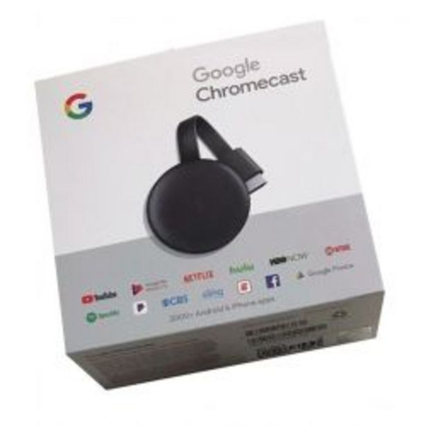 Oferta de Google Chromecast 3 Smart Tv Sin trafo Usb por $8399